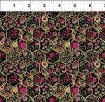 Garden Delights III : Hexagons Magenta - #11GSG-3 - Gray Sky Studio