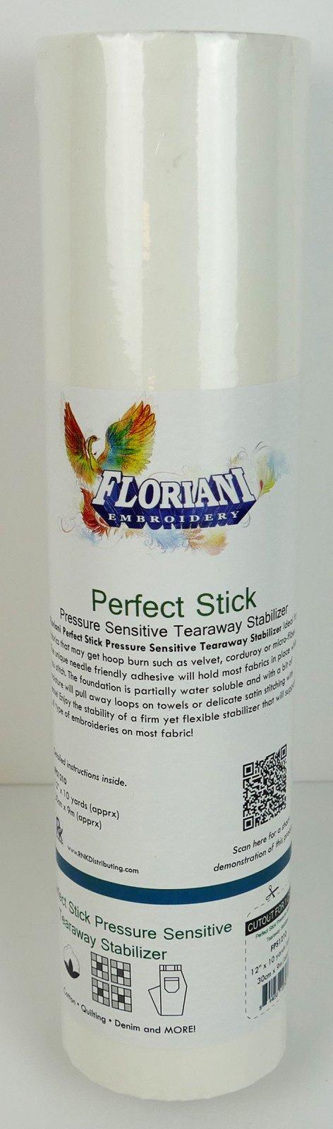 Perfect Stick : Pressure Sensitive Tearaway Stabilizer - 12 x 10 yards - Floriani