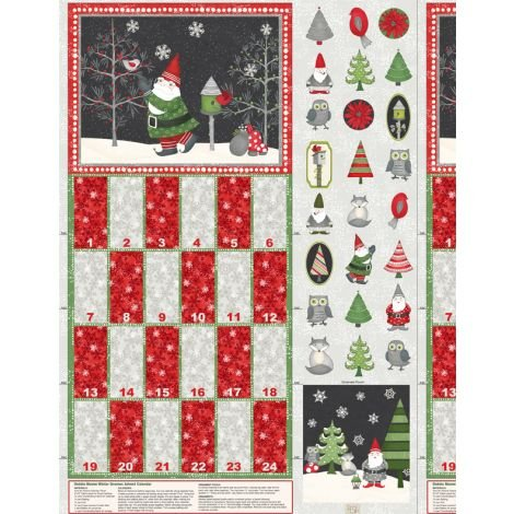 Winter Gnomes : Advent Calendar Panel - #1862-67570-937 - By Debbie Mumm