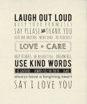 Printworks : Use Kind Words Canvas Panel - 54 x 65 - #5761-11P - By Sweetwater