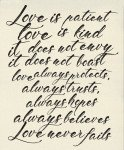 Printworks : Love Is Patient Canvas Panel - 54 x 65 - #5762-11P - By Sweetwater