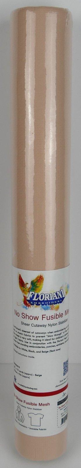 No Show Fusible Mesh - Sheer Cutaway Nylon Stabilizer : Beige - 20 x 10 yards - Floriani