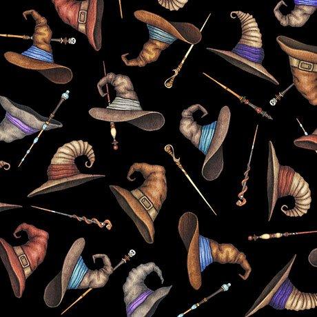 Spellbound - Wizard Hats & Wands - Black