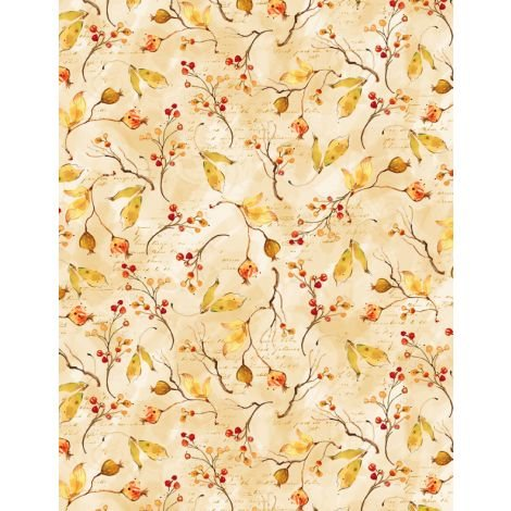 Forest Dance : Berry Toss Dk. Cream - #3023-39615-253 - By Susan Winget