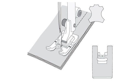 Non-Stick Glide Foot H - 1-2-3-4-5-6-7-8 - Husqvarna Viking