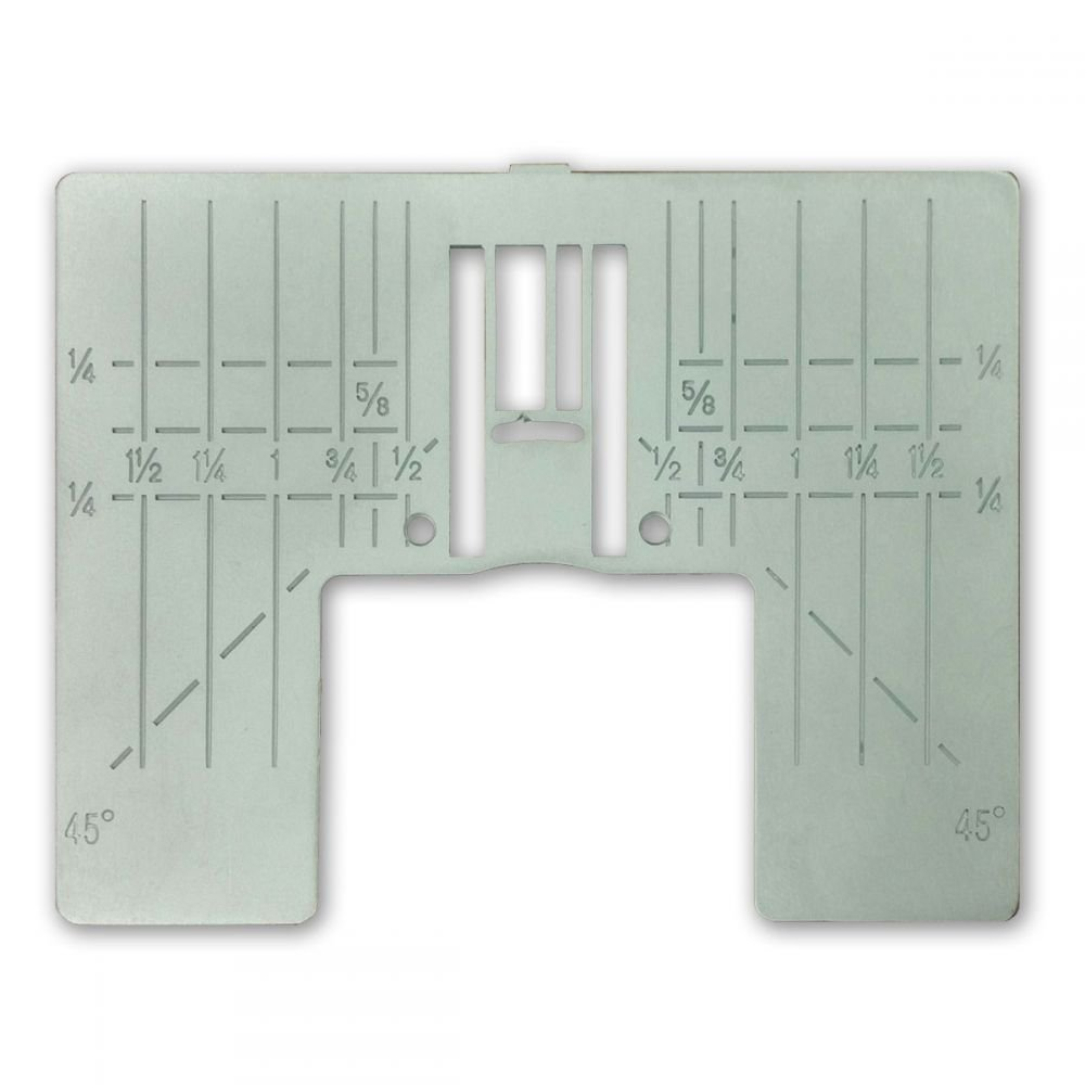 Zig-Zag Plate with Inch Markings - Diamond, Ruby, Sapphire, Opal - Husqvarna Viking