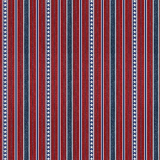 American Rustic : Stripe Red - #6335-10
