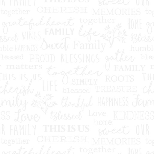 Farm Sweet Farm : Family Words White on White - #06844-09