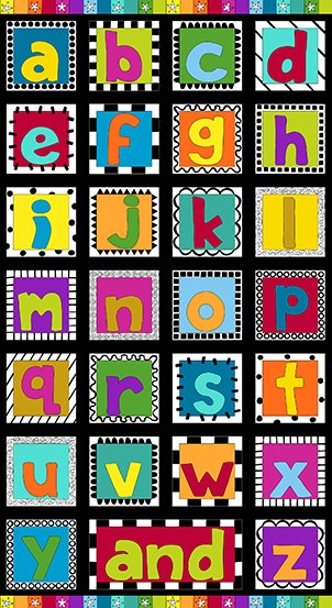 And Z - #A-8560-K alphabet 24 panel (238)