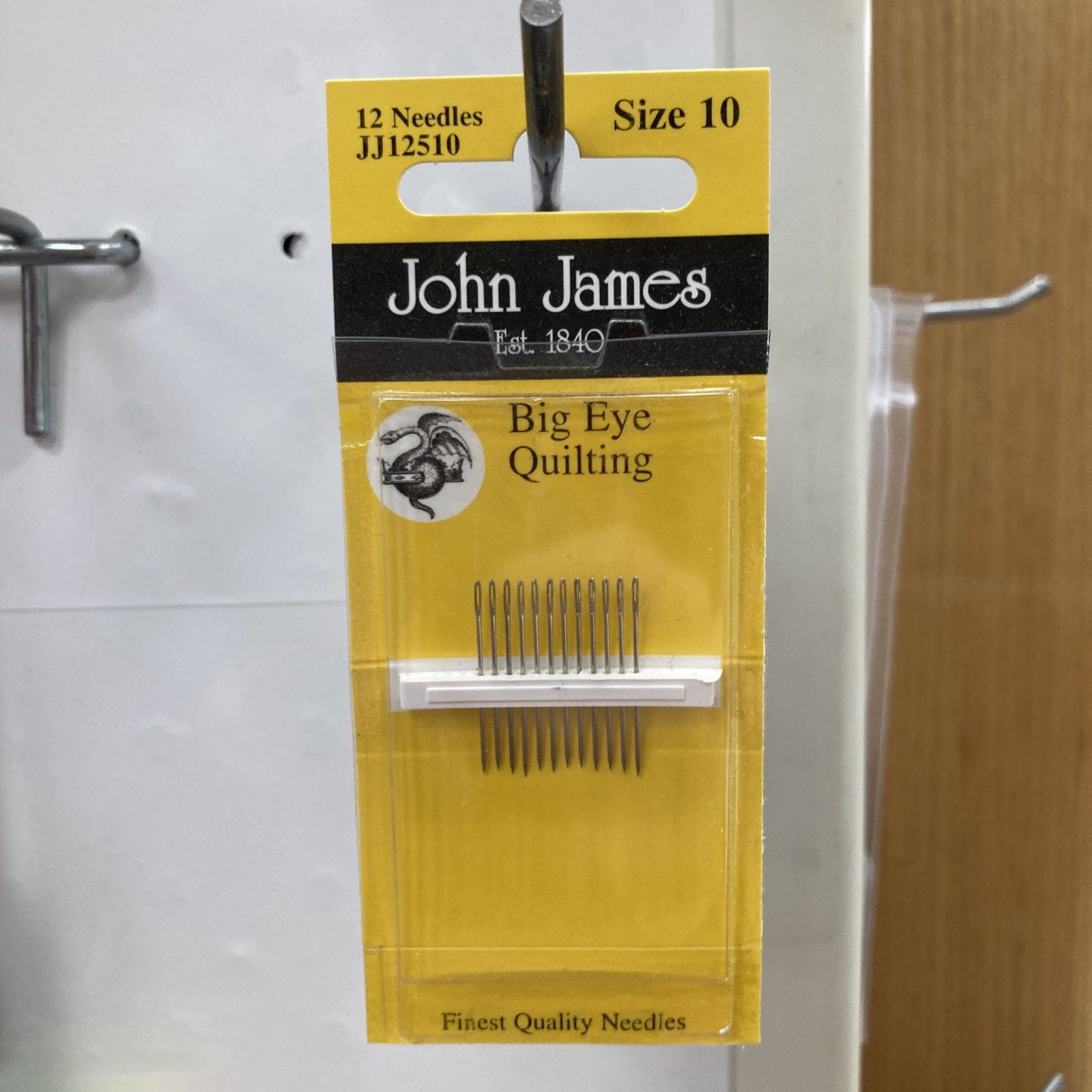 John James Big Eye Quilting Needles - Size 10 - 10ct
