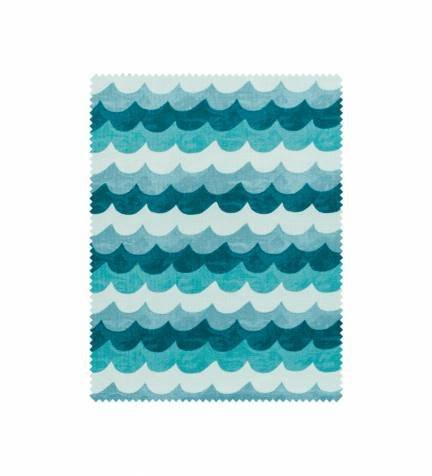 Amalfi - #8048-1 - Waves (Turquoise) - By Rifle Paper Co. for Cotton & Steel