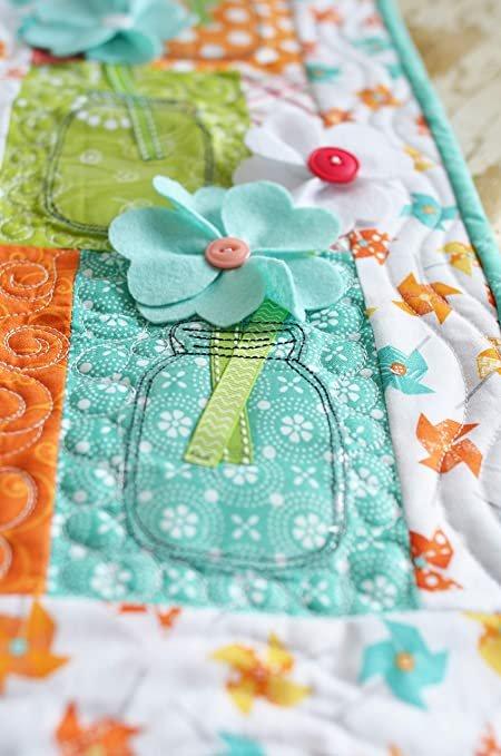 Hello Sunshine Orange Pinwheel Wishes Kit w/back