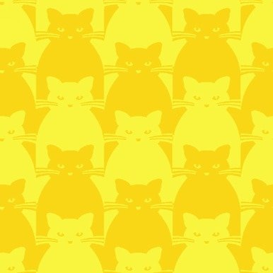 Kitty Kitty : Yellow Tonal Cat - #8585-44 - By Yolanda Fundora