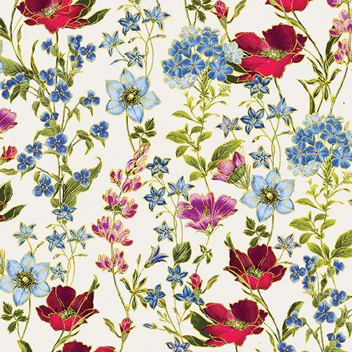Field of Dreams - Wild Flower Garden Cream - #8936M-07