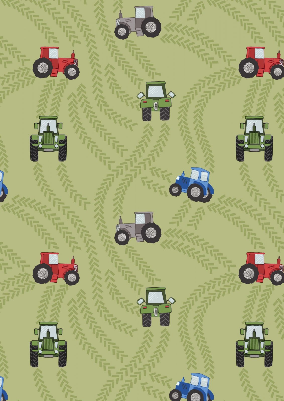 Piggy Tails : Green Tractor Trails - #A533-1