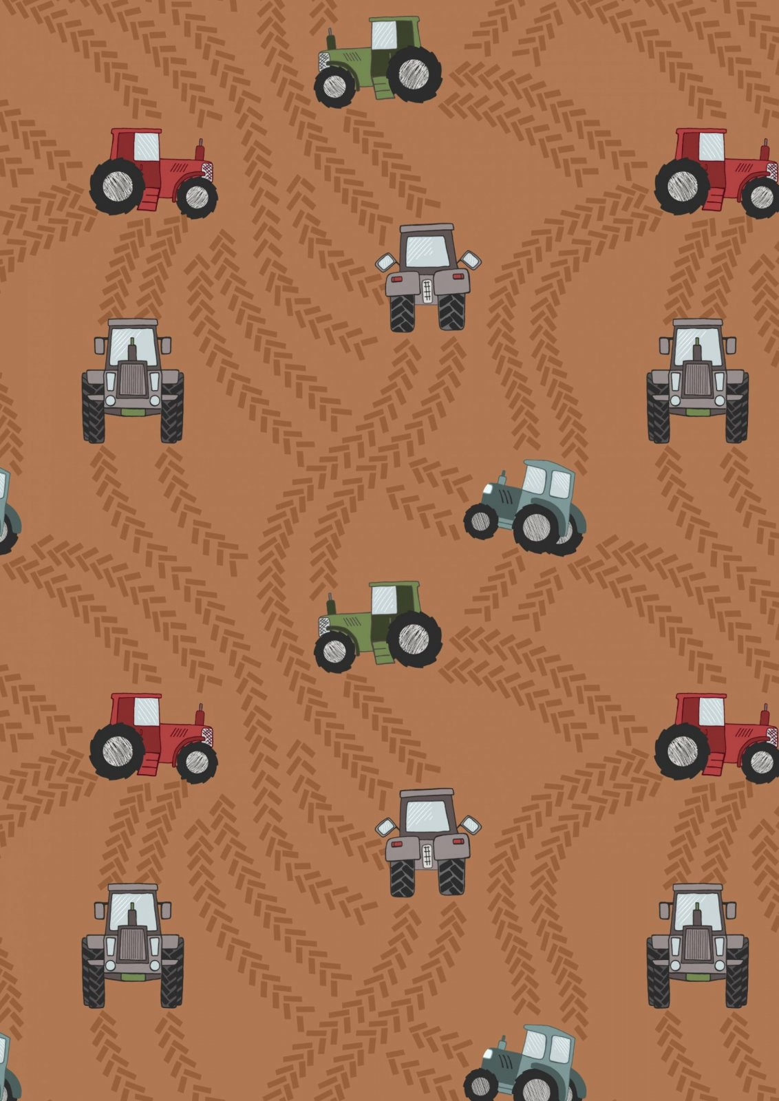 Piggy Tails : Rust Tractor Trails - #A533-2