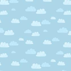 Summer Skies : Sky Blue Summer Clouds - #AE204-SB3 - Alijt Emmens