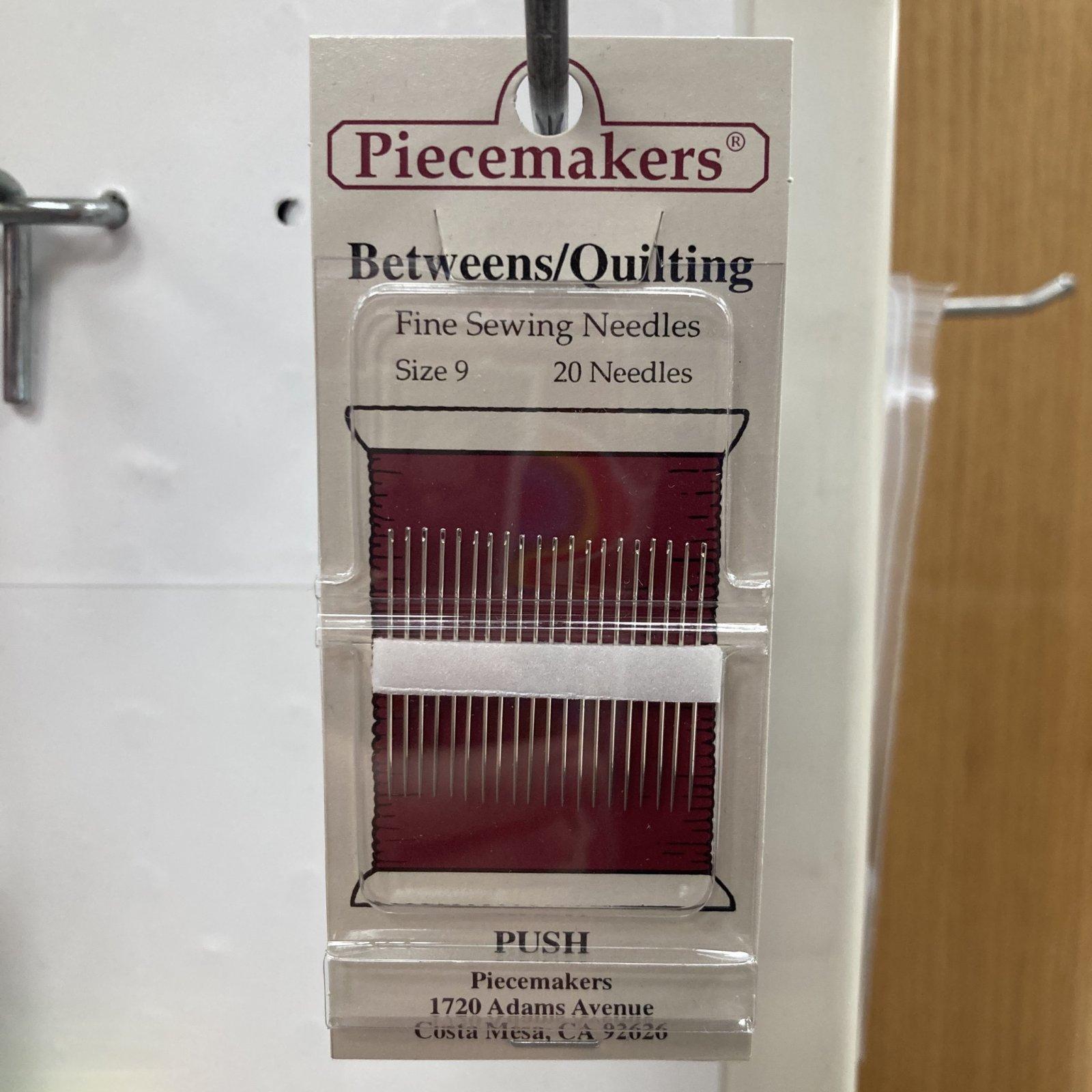 Piecemakers Betweens/Quilting Needles Sz 9 - 20 Needles