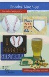 Baseball Mug Rugs - Machine Embroidery - By Amelie Scott Designs