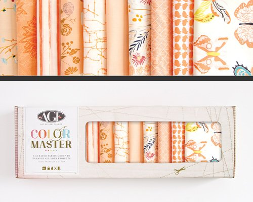 Color Master - No. 4 Quite Peachy Edition - 10 Fat Quarter Box