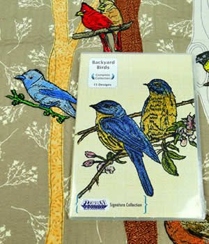 Floriani Embroidery Software - Backyard Birds Signature Series