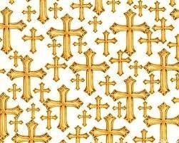 Bible Study I & II - Crosses on white