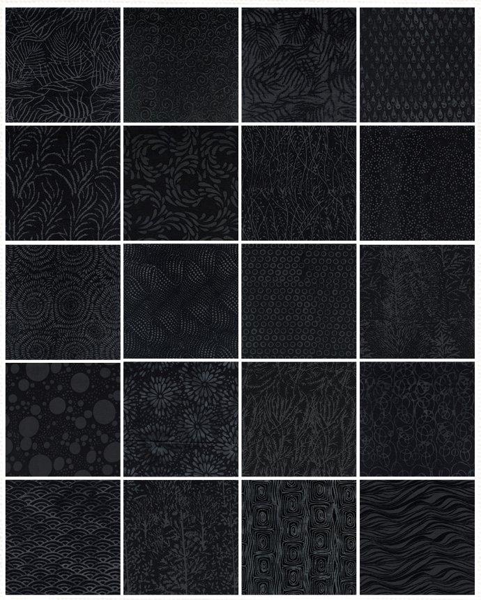 Black Beauty Strip Pack - 40-2.5 Strips - Island Batik