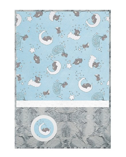 Lucky Star Blue Lullaby Cuddle Kit - 28 x 41