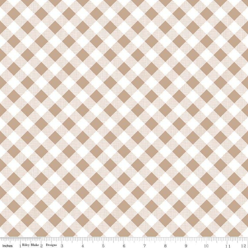 Sew Cherry 2 - #C5808-Nutmeg - By Lori Holt