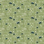 In The Forest : Bear & Fox Green - #C8952-Green