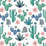 Cuddle Prints : Cactus Bloom Bluebell - 58/60 - #CACTUSBLOOM-Bluebell