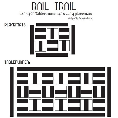 Rail Trail - Cutie Pattern - Quilt Basket