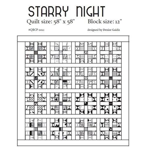 Starry Night - Cutie Pattern - Quilt Basket