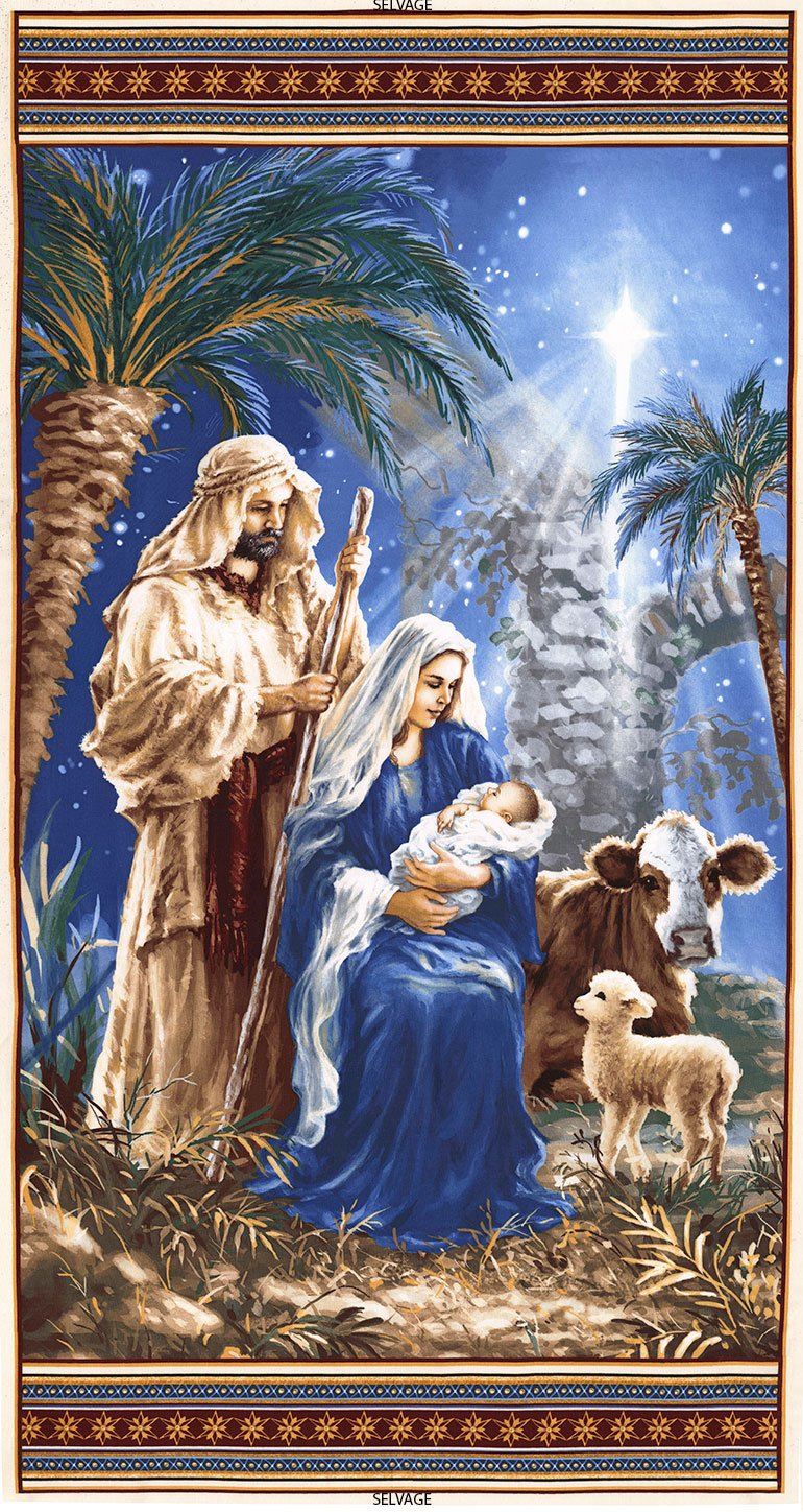 Holy Night - Nativity 24 Panel - #Dona-C6011-Blue - By Dona Gelsinger (#273)
