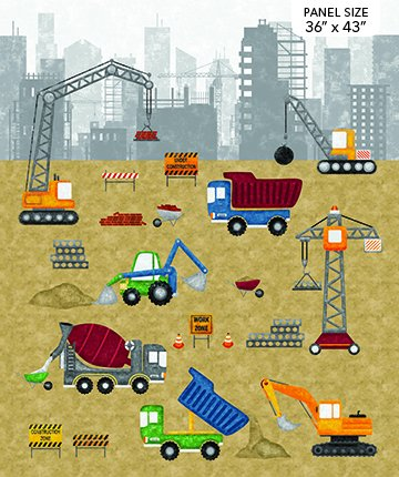Construction Zone : Construction Panel - #DP23258-91Kim Peers-Moore (#335)