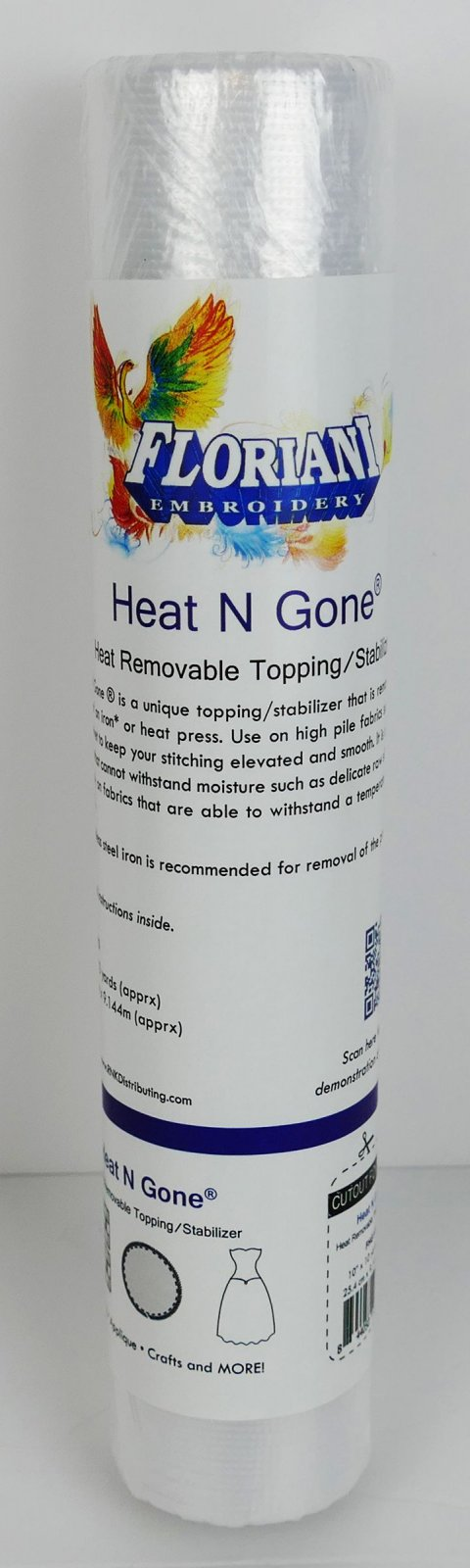 Floriani Heat N Gone Heat Removable Topping / Stabilizer - 10 x 10 yards