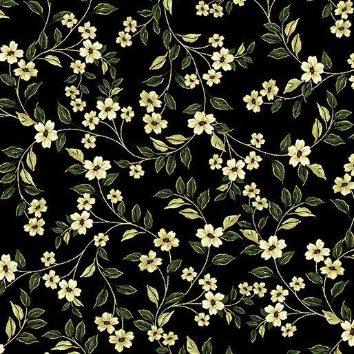 Carmen - Small white flowers on black