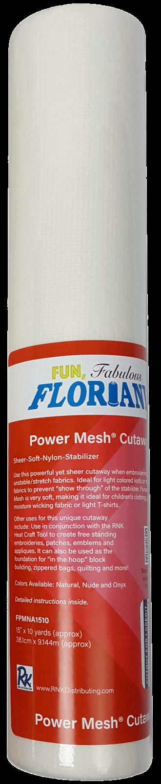 Power Mesh Cutaway : Natural Sheer Soft Nylon Stabilizer - 15 x 10yrds - Floriani