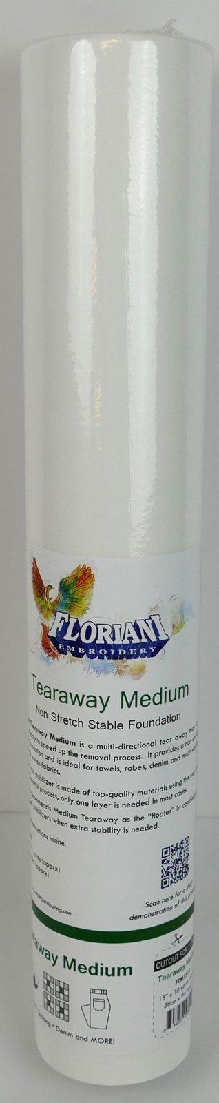Tearaway Medium : Non Stretch Stable Foundation - 15 x 10 yards - Floriani