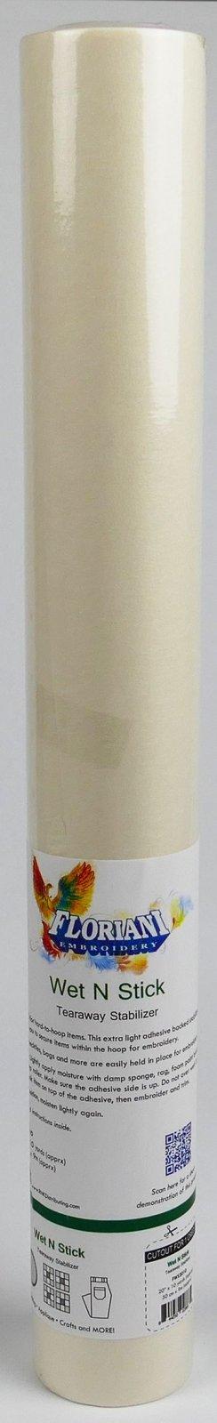 Floriani Wet N Stick Tearaway Stabilizer - 20 x 10 yards