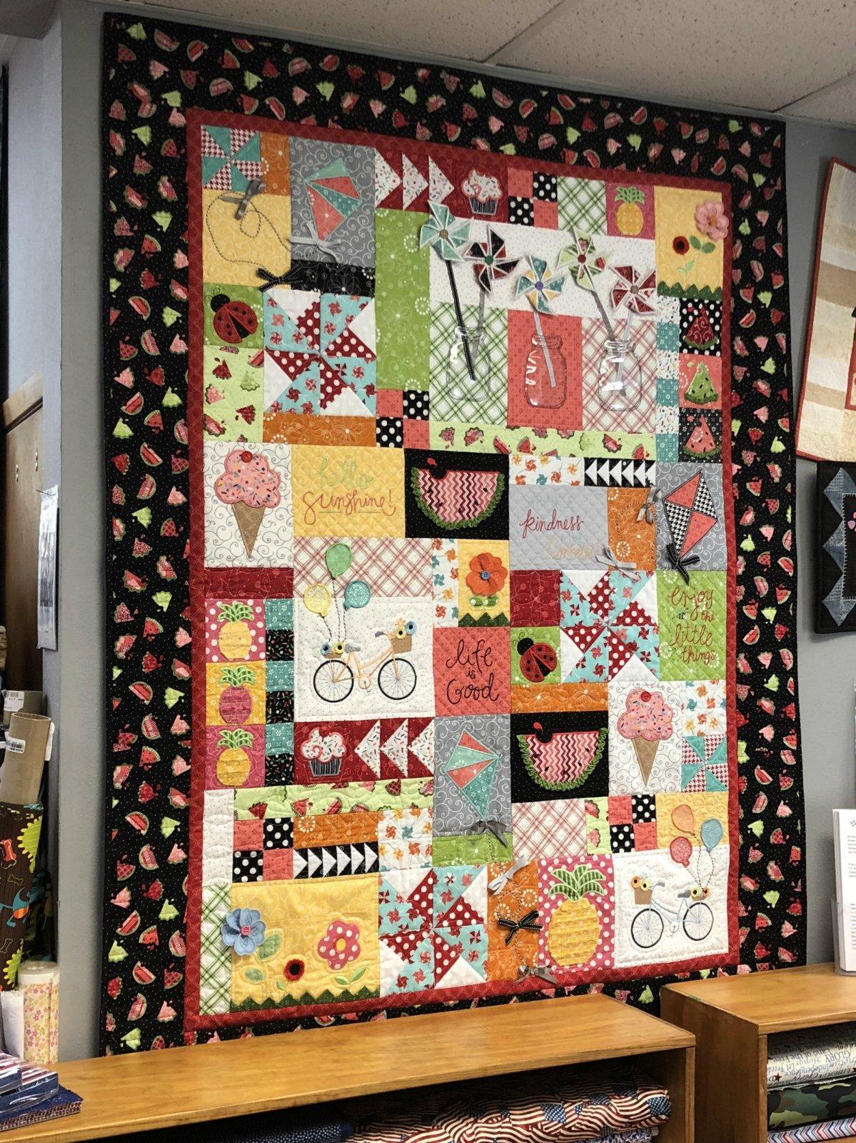 Hello Sunshine Quilt Kit Including Embellishments