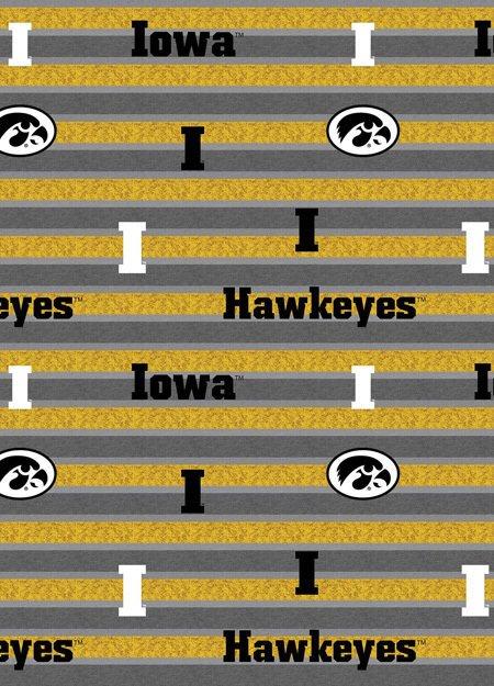 DISCONTINUED College Prints : Polo Stripe - #IA-1133 - University Of Iowa
