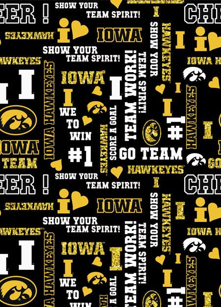 College Prints  - #IA-1142 - Glitter - University Of Iowa