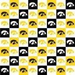 University of Iowa : Checked Herky - IA-1158 - Hawkeyes