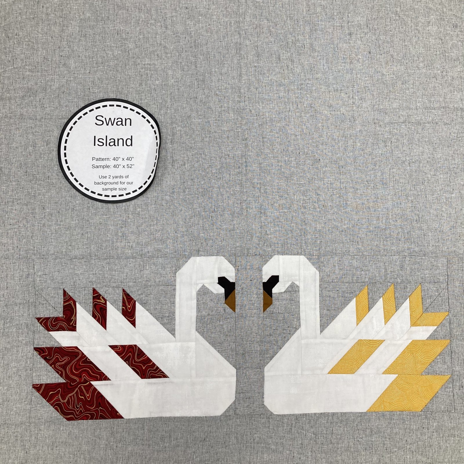 Swan Kit - Red and Gold