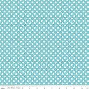 Knit Basics : Small Dots Aqua Stretch Jersey Knit - The RBD Designers