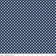 Knit Basics : Small Dot Navy Stretch Jersey Knit - The RBD Designers