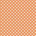 Knit Basics : Small Dot Orange Stretch Jersey Knit - The RBD Designers