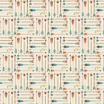 High Adventure : Arrow Cream Stretch Jersey Knit - By Design by Dani