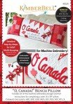 O' Canada! Bench Pillow - Machine Embroidery - Kimberbell Designs
